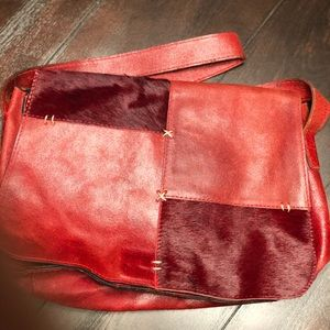 Handbags - Vintage leather and animal hair purse